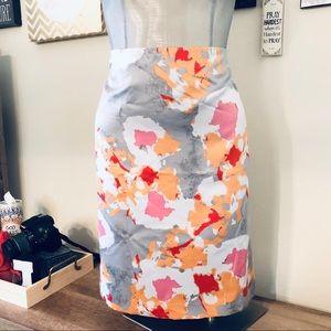 Ann Taylor Water Color Pencil Skirt sz 10